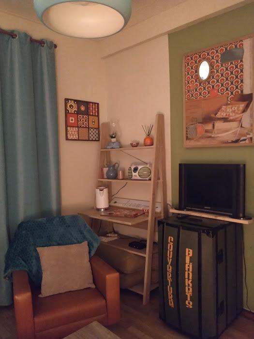 Petit salon de chambre d'hôte en Sologne