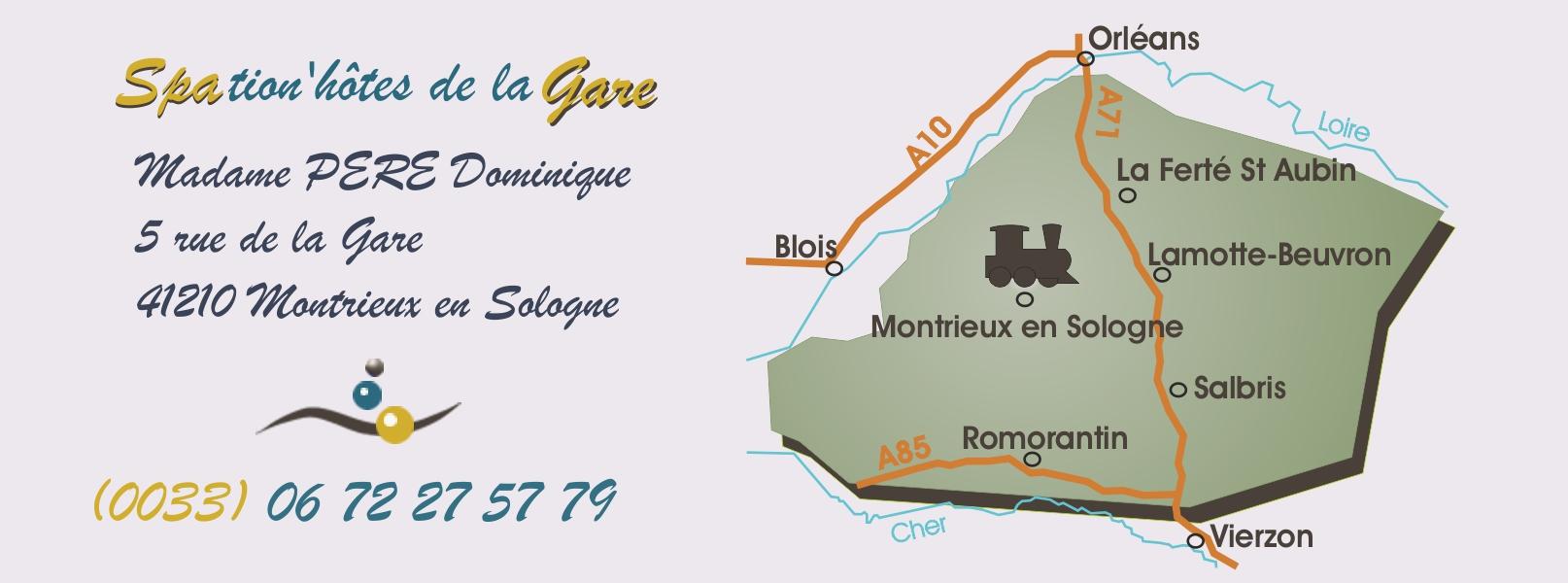 Location chambre d'hôte en Sologne